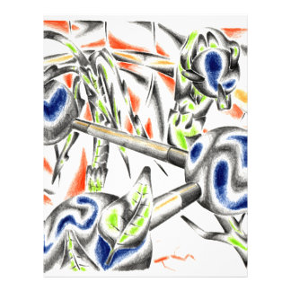 Abstract color design art letterhead