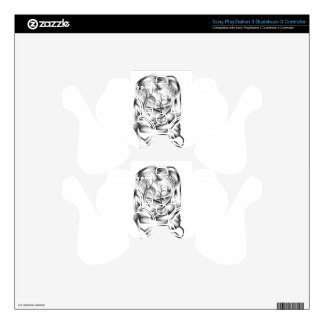 Abstract color design art PS3 controller skins