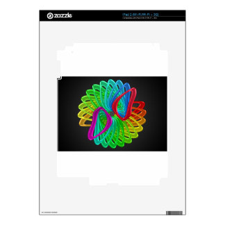 Abstract color design art skin for the iPad 2