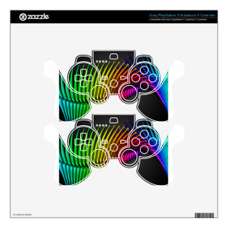 Abstract color design art skins for PS3 controllers