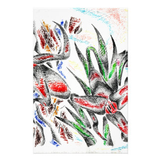 Abstract color design art stationery