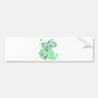 Abstract Color Design Car Bumper Sticker