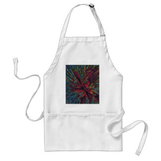 Abstract Color Explosion Adult Apron