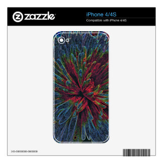 Abstract Color Explosion Decal For iPhone 4
