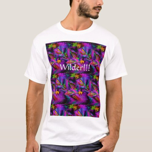 Abstract Color Journey in Magenta T-Shirt