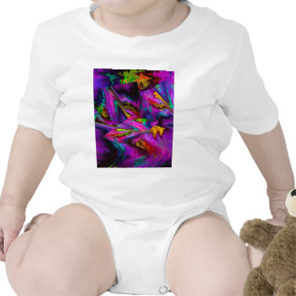Abstract Color Journey in Magenta Baby Bodysuit
