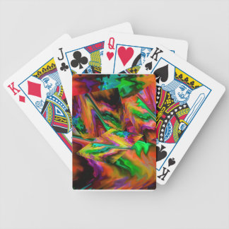 Abstract Color Journey in Orange Bicycle Playing Cards