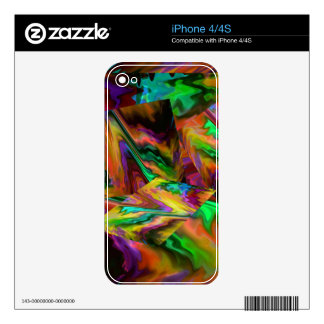 Abstract Color Journey in Orange Skins For iPhone 4S