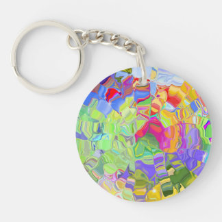 Abstract Color Keychain