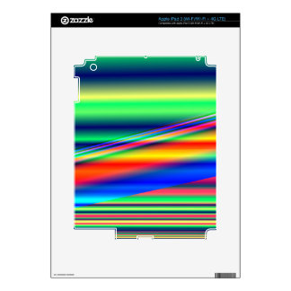 Abstract Color Lines: Decal For iPad 3