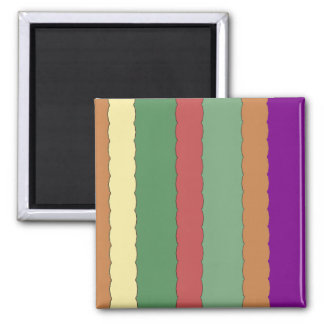 Abstract Color Lines Fridge Magnet