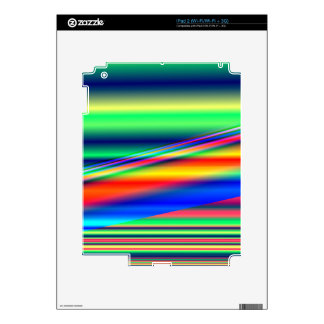 Abstract Color Lines: iPad 2 Decal