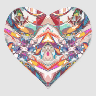 Abstract Color Mix Heart Sticker