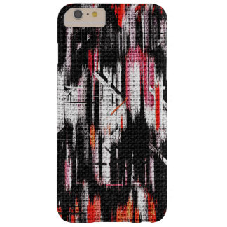 Abstract Color Paint Brush Rustic Burlap #11 Barely There iPhone 6 Plus Case