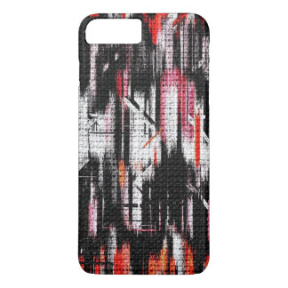 Abstract Color Paint Brush Rustic Burlap #11 iPhone 7 Plus Case