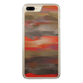 Abstract Color Paint Brush Stroke #11 Carved iPhone 7 Plus Case