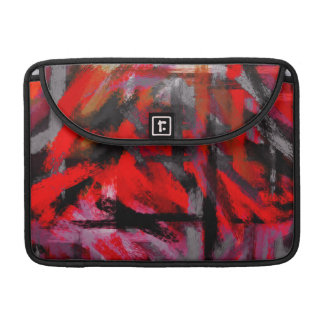 Abstract Color Paint Brush Stroke #5 Sleeve For MacBook Pro