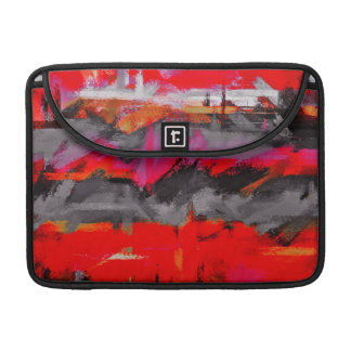 Abstract Color Paint Brush Stroke #8 Sleeve For MacBook Pro
