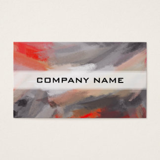 Abstract Color Paint Brush Stroke Business Card