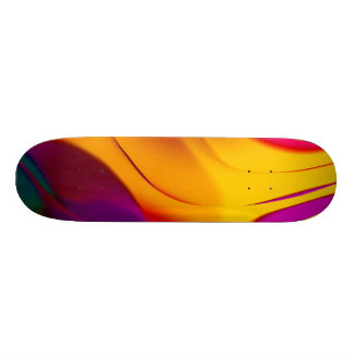 abstract color parade (L) Custom Skate Board