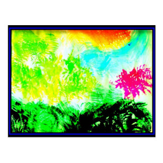Abstract Color Postcard