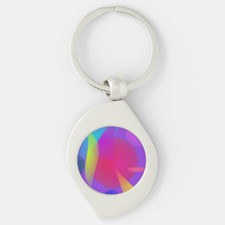 Abstract Color Relaxation Keychains