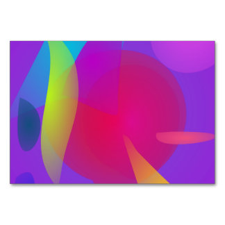 Abstract Color Relaxation Table Cards