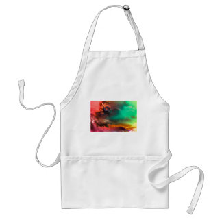 Abstract Color splash organic painting Adult Apron