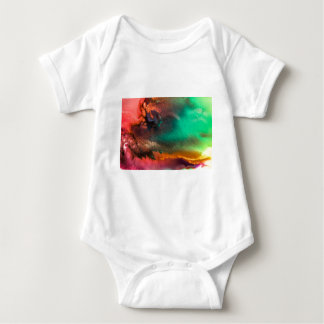 Abstract Color splash organic painting Baby Bodysuit