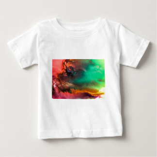 Abstract Color splash organic painting Baby T-Shirt