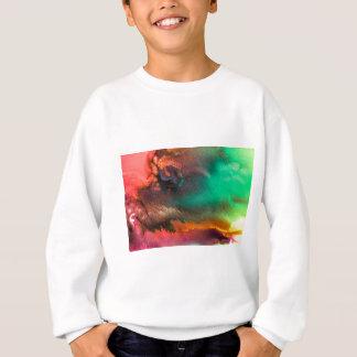 Abstract Color splash organic painting Sweatshirt