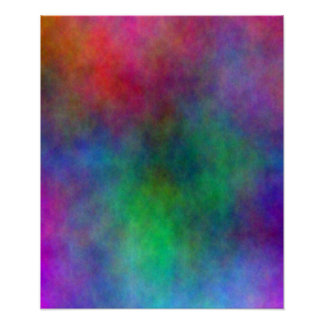 Abstract Color Splash Poster