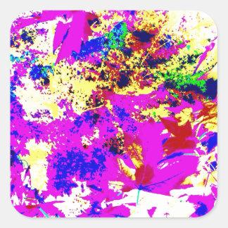 Abstract Color Splash Square Sticker