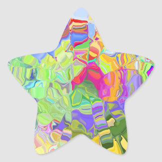 Abstract Color Star Sticker