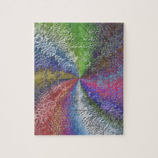 Abstract Color Swirl Puzzle