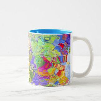 Abstract Color Two-Tone Coffee Mug