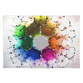 Abstract Color Wheel Cloth Placemat