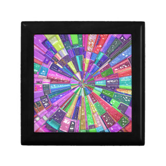 Abstract Color Wheel Jewelry Box