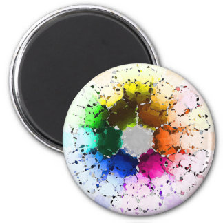 Abstract Color Wheel Magnet