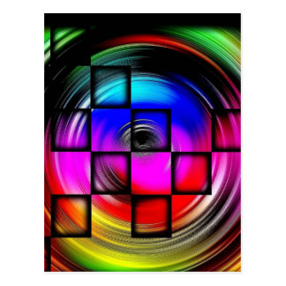 Abstract Color Wheel Postcard