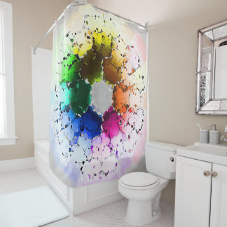 Abstract Color Wheel Shower Curtain