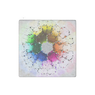 Abstract Color Wheel Stone Magnet