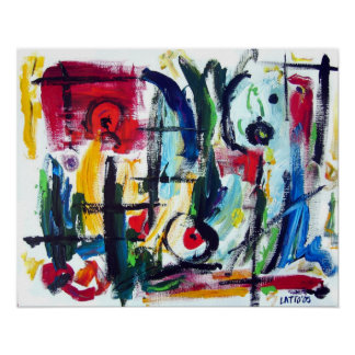 Abstract Color Whimsy Poster