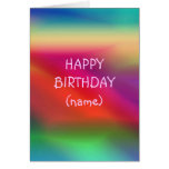 Abstract Colored Birthday Card
