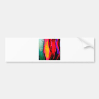 Abstract Colored Bottles Curves Bumper Sticker