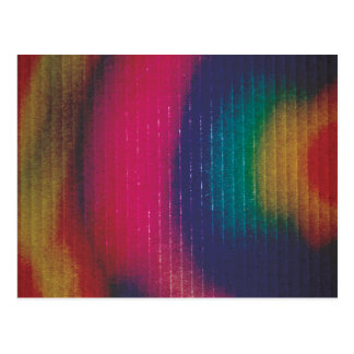 Abstract Colored Cardboard Postcard