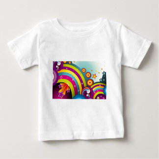 Abstract Colored Circles and Star and Rainbows Baby T-Shirt