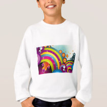 Abstract Colored Circles and Star and Rainbows Sweatshirt
