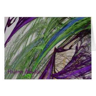 abstract colored flame, Halima Ahkdar Card