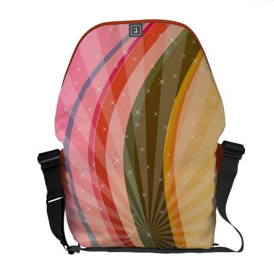 ABSTRACT COLORED MESSENGER BAG